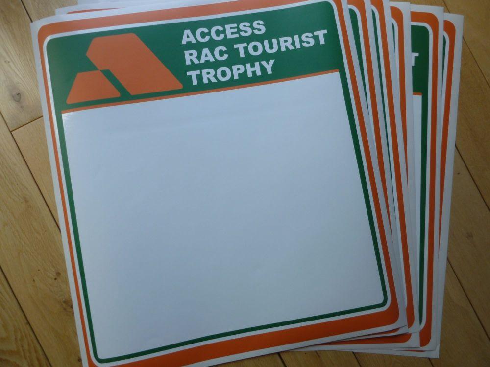 Access RAC Tourist Trophy Door Panel Stickers. 420mm Pair.