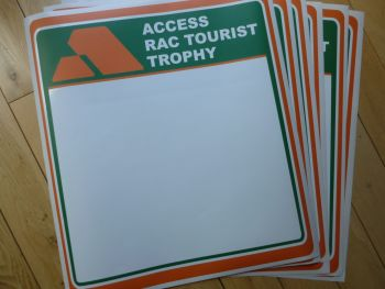 Access RAC Tourist Trophy Door Panel Stickers. 420mm Pair.