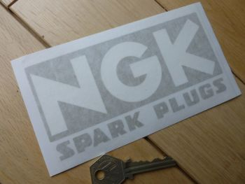 "NGK Spark Plugs Cut Vinyl Sticker. 6""."