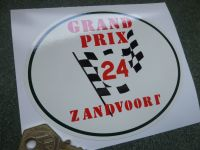 Zandvoort Grand Prix 24 Circuit Oval Window or Car Body Sticker. 120mm.