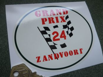 Zandvoort Grand Prix 24 Circuit Oval Window or Car Body Sticker. 120mm.