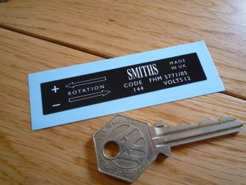 Smiths Heater Label FHM 5771/0 Sticker. 75mm.