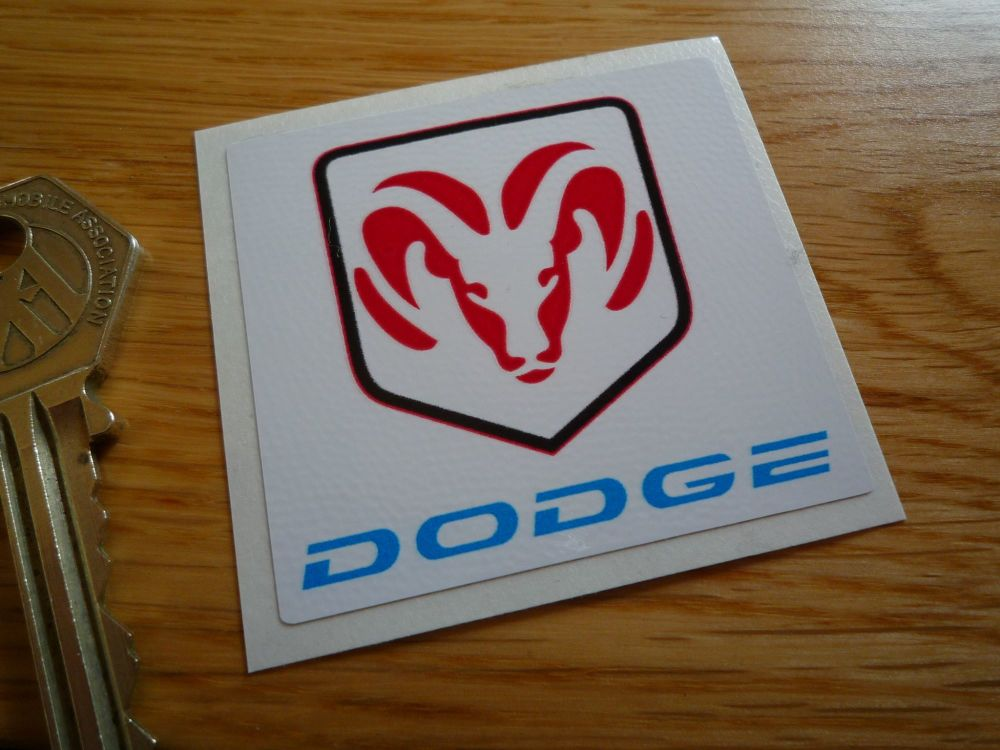 "Dodge Logo Square Sticker. 2""."