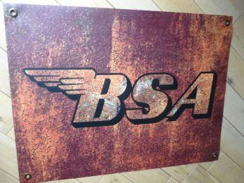 """BSA Rust Effect Banner Art. 26"""" x 20""""."""