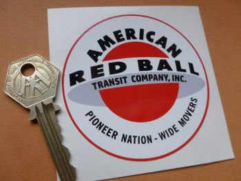 "American Red Ball Transit Company Old Style Race Car Sticker. 3""."