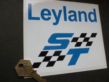 """British Leyland ST Chequered Sticker. 5.5""""."""