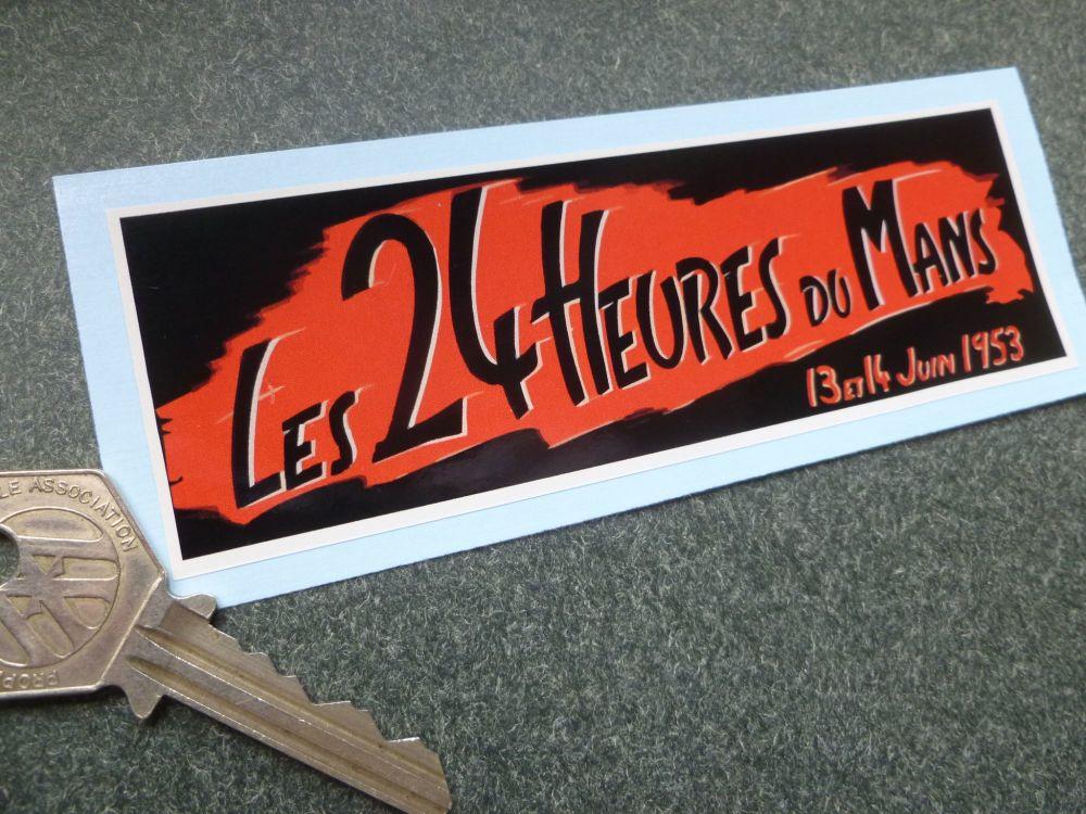 """24 Heures Du Mans 1953 LeMans Le Mans Sticker. 5""""."""