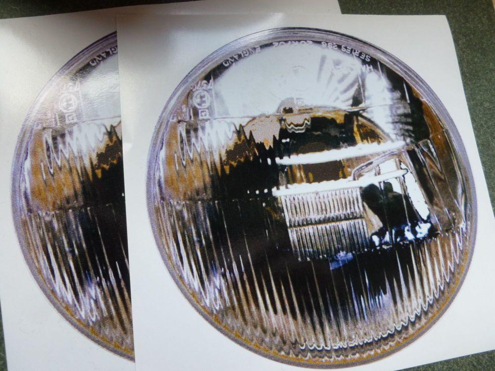 False Headlights Headlamps Stickers. Style 7. 142mm Pair.