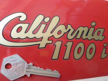 "Moto Guzzi California 1100i Cut Vinyl Sidepanel Stickers. 5.75"" Pair."