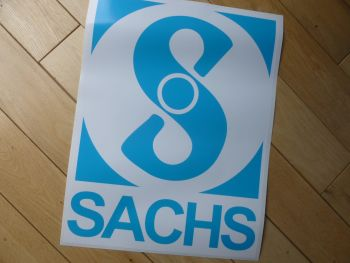 "Sachs Large Panel Vinyl Sticker. 12"" or 16""."