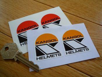 "Kangol Helmets Shaped Stickers. 1.5"" Pair."