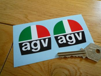 AGV Helmets Old Style Stickers. 45mm Pair.