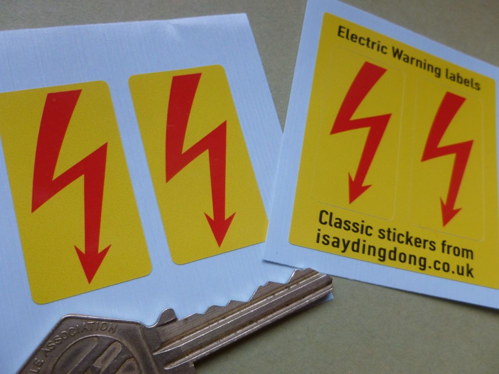 Armstrong Selectaride Electric Shock Absorber Stickers. 41x21mm Pair.