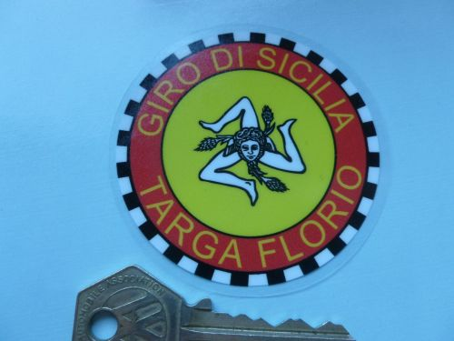 TARGA FLORIO Giro do Sicilia Sticker. 4 sticky back  or 3 inch window versi