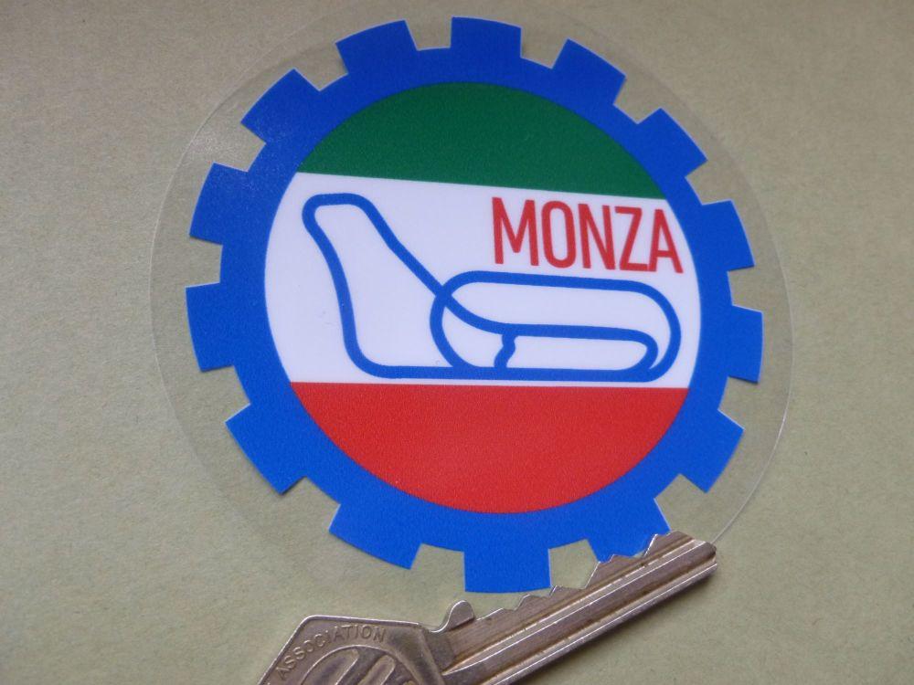 """Monza Autodromo Gear Shaped window Sticker. 3.5""""."""