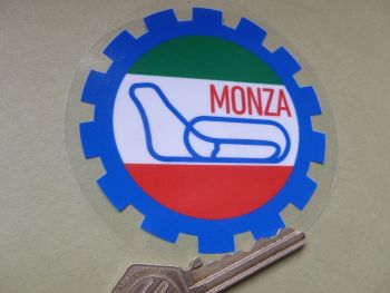 "Monza Autodromo Gear Shaped window Sticker. 3.5""."