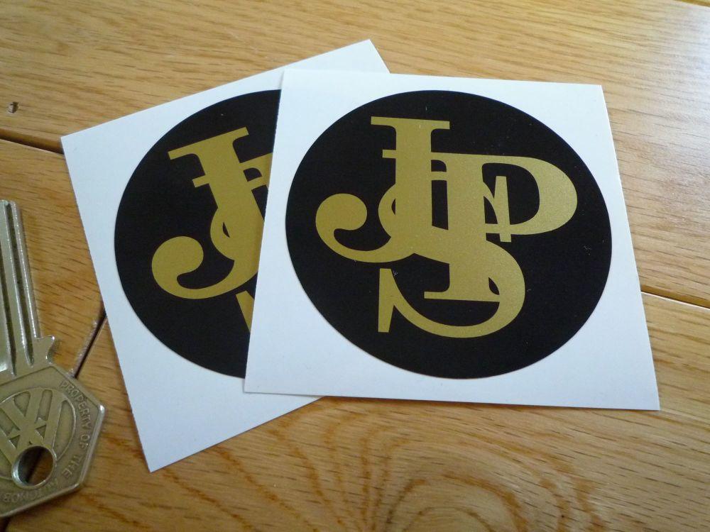 "John Player Special Plain Close Cut Circular Logo Stickers. 2.75"" Pair."