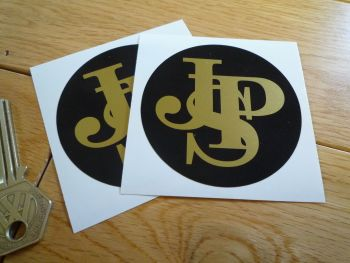"John Player Special Plain Close Cut Circular Logo Stickers. 2.75"" Pair."
