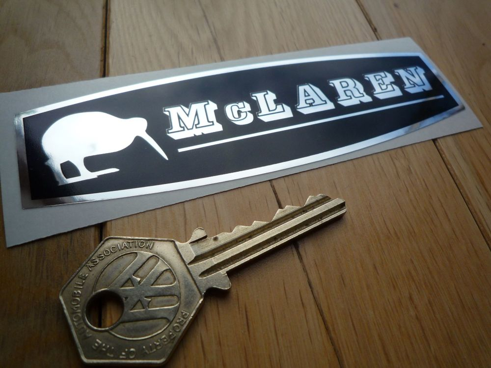 "McLaren Black & Foil Sticker. 5""."