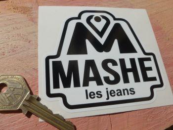 """Mashe Helmet  Black & White Sticker. Barry Sheene etc. 4""""."""
