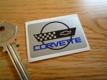 """Corvette Small Oblong Logo Sticker. 2""""."""
