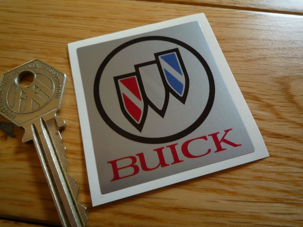 "Buick Small Oblong Logo Sticker. 2""."