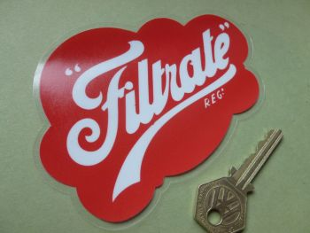 "Filtrate Cloud Old Style Window or Bodywork Sticker. 5.25""."