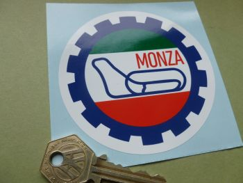 "Monza Autodromo Gear Shaped Car Body Sticker. 3.5""."