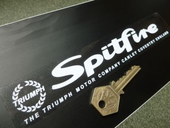 "Triumph Spitfire Canley Coventry Address Window or Car Body Sticker. 8""."