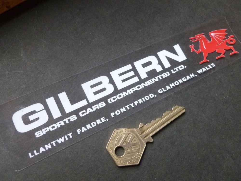 """Gilbern GT, Genie, Invader Window Sticker. 8""""."""