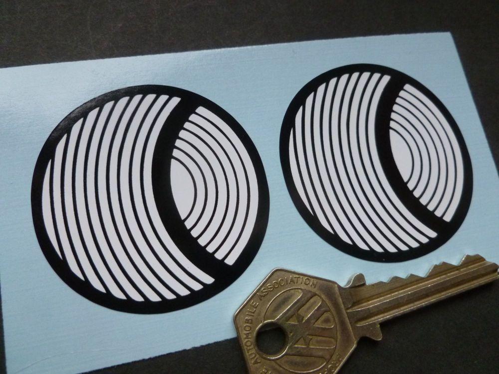 Solar Productions Circular Stickers. 2