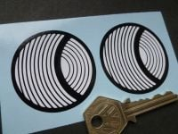 "Solar Productions Circular Stickers 2"" Pair"