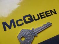 "Steve McQueen Cut Text Vinyl Helmet Stickers. 4"" Pair."