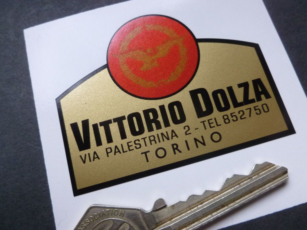 Vittorio Dolza Torino Old Classic Italian Motorcycle Dealers Sticker. 65mm.