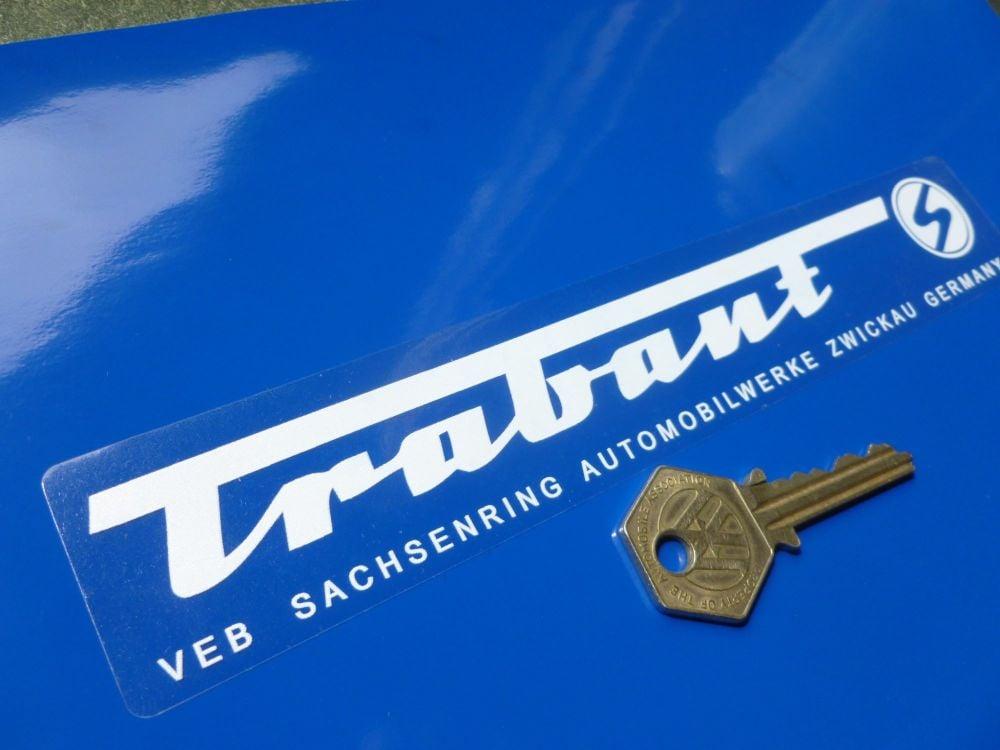 "Trabant Factory Address Window or Body Sticker. 8""."