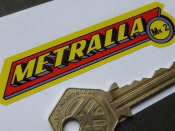 Bultaco Metralla Mk2 Sticker. 85mm.