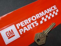 "GM Performance Parts White & Clear Window Sticker. 6""."