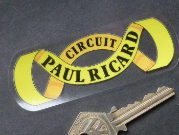 "Circuit Paul Ricard Sash Style Circuit Window Sticker. 4""."