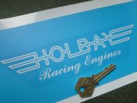 Holbay Racing Engines Clear & White Window or Car Body Sticker. 7.5