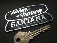 "Land Rover Santana Laser Cut Self Adhesive Car Badge. 3.75"" or 7""."