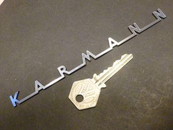 "Karmann Old Classic Style Text Laser Cut Self Adhesive Car Badge. 6""."