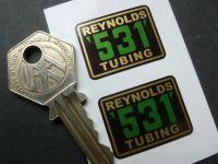 Reynolds 531 Tubing Stickers. 29mm Pair.