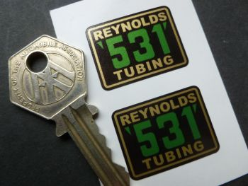 Reynolds 531 Tubing Stickers. 29mm Pair.