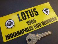 Lotus 1965 Indianapolis 500 Winners Sticker. 6