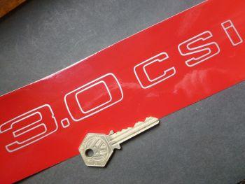"BMW 3.0CSi Text Outline Cut Vinyl Sticker. 7.75"" or 13""."