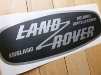"Land Rover Solihull Warwickshire, England Sticker. Various Colours. 6""."