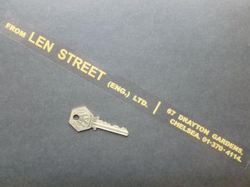 "Len Street (Engineering) Ltd Chelsea Lotus and (BMW?) Dealer Sticker. 12""."