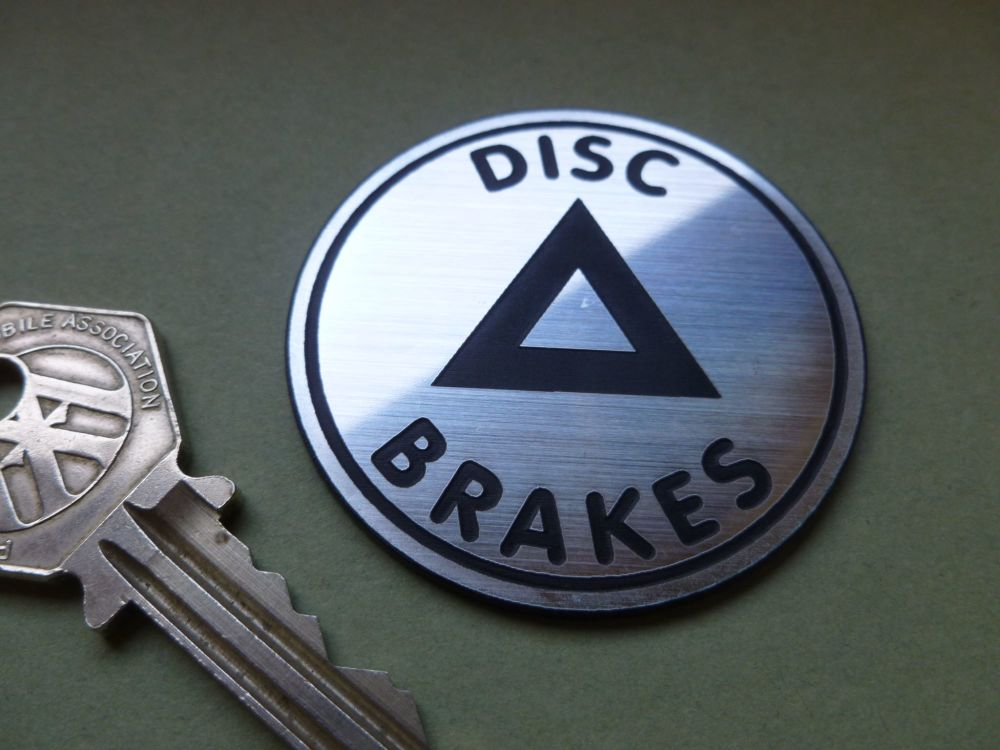 "Disc Brakes Laser Cut Self Adhesive Badge. 2""."