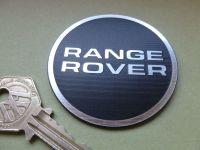Range Rover Black & Silver Self Adhesive Badge. 24mm or 60mm.
