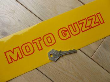 "Moto Guzzi Cut Vinyl Cut Out Middle Stickers. 9"" Pair."